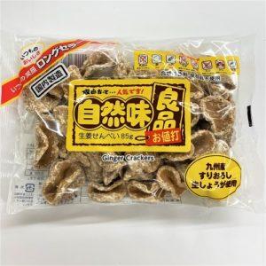 七尾製菓 自然味良品生姜せんべい 85g