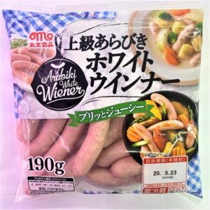 丸大食品 上級あらびきホワイトウインナー 190g
