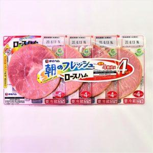 伊藤ハム 朝のフレッシュロースハム 4枚入×4パック
