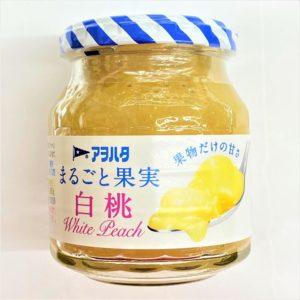 アヲハタ まるごと果実白桃 250g 01