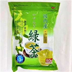 山城物産 国内産やすらぎ緑茶ティーパック 50袋入 01