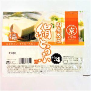 京都タンパク 国産大豆絹とうふ 80g×4個 01