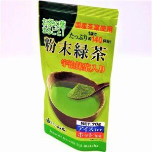 山城物産 粉末緑茶宇治抹茶入り 70g 01
